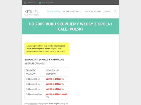 Skup w艂os贸w farbowanych - http://www.kitki.pl
