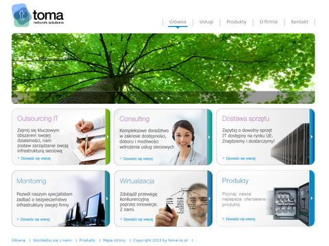 TOMA - network solutions: outsourcing IT, serwis IT